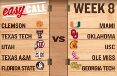 Easy Call: The simplest way to pick Week 8 college football games