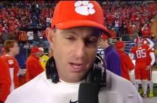 Clemson vs North Carolina – ACC Championship Game 2015